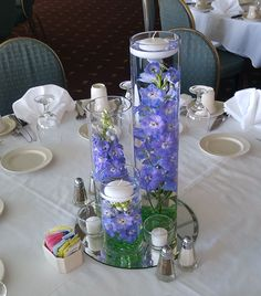 Trio Vase with Delphinium