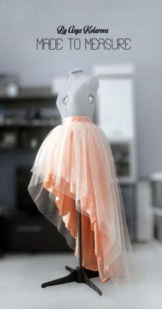 0c81d923ce111 Tulle wedding skirt High low ball gown skirt Blush layered skirt Peach tutu  Prom dress separate Formal taffeta skirt Bridesmaid s skirt