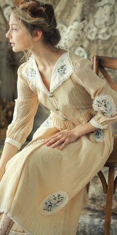 Pretty Outfits, Pretty Dresses, Beautiful Dresses, Cute Outfits, Moda Vintage, Vintage Dresses, Vintage Outfits, Vintage Fashion, Moda Boho