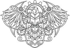Western Steampunk - Raven | Urban Threads: Unique and Awesome Embroidery Designs