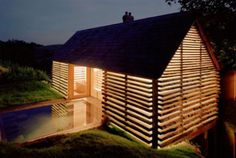 Amazing usage of an old barn in a very modern home.