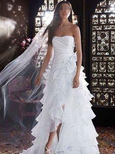 2016 Sexy Weiß Trägerlos Brautkleider A-Linie Hochzeitskleid Mass angefer in Kleidung & Accessoires, Hochzeit & Besondere Anlässe, Brautkleider | eBay