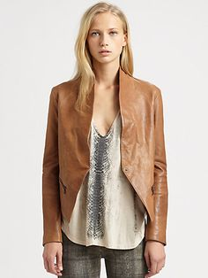 Haute Hippie - Asymmetrical Leather Jacket