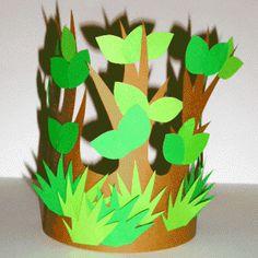 Couronne g nie des bois Tree Costume, Flower Costume, Carnival Crafts, Carnival Masks, Diy And Crafts, Arts And Crafts, Paper Crafts, Diy For Kids, Crafts For Kids