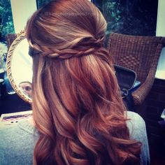 Braided half up half down. Bridesmaid? @Style Space & Stuff Blog Lindholm @Kaitlyn Marie Carpenter @Maudi Kolster