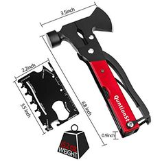 Gifts for Dad Men Teens Fathers Day,Multitool Camping Gear Kits, 16 in 1 Survival Gear with 18 in 1 Multi Tool Card, Multi Tool Emergency Hatchet, Survival Kits for Outdoor Hiking Household,... Survival Project, Survival Prepping, Survival Gear, Cool Camping Gadgets, Camping Gear, Multi Tool Card, Gadget Shop, Survival Quotes, Gifts For Dad