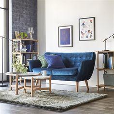 【W1450】ナビア ソファ 2S ベルベット ネイビー(ネイビー) Francfranc(フランフラン)公式サイト|家具、インテリア雑貨、通販 Sofa, Couch, Love Seat, Living Room, Furniture, Home Decor, Homemade Home Decor, Settee, Couches