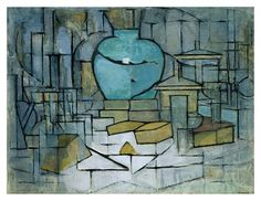 Still life with ginger pot 2, by Piet Mondrian (1912)