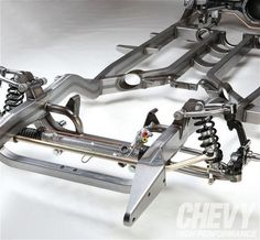 Chevy Tri-Five Suspension Bolt-ons - Chevy High Performance Magazine Custom Trucks, Custom Cars, Super Chevy Magazine, Tube Chassis, Plastic Model Cars, Suspension Design, Buggy, Car Tuning, Metal Fabrication