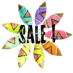 SALE  Jewelry Dangle Earrings Neon Aztec  4.5 inch  by lovesexton, $17.80