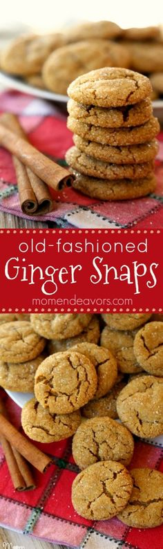 Old-Fashioned Ginger Snaps Recipe