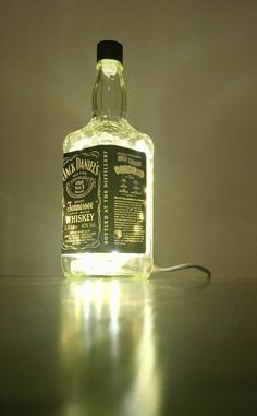 Excited to share the latest addition to my #etsy shop: Jack Daniels Whisky Bottle Lamp /Lampe /Tischlampe/Table Lamp/Bar http://etsy.me/2CsitND #housewares #lighting #white #glass #artdeco #craft #newyears #bachelorparty #jackdaniels
