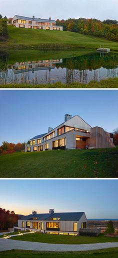 This new house sits on a hilltop overlooking Georgian Bay in Canada.
