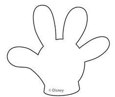 Molde del guante de Mickey.