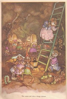 Peg Maltby e a sua arte. - Peg Maltby - and her art. Pet Mice, Vintage Fairies, Thing 1, Vintage Children's Books, Fairy Art, Children's Book Illustration, Book Illustrations, Conte, Faeries