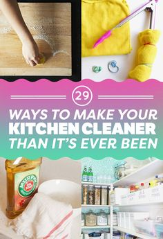 Kitchen cleaning hacks - 29 Clever Kitchen Cleaning Tips Every Clean Freak Needs To Know – Kitchen cleaning hacks Household Cleaning Tips, House Cleaning Tips, Diy Cleaning Products, Cleaning Solutions, Deep Cleaning, Spring Cleaning, Cleaning Hacks, Cleaning Schedules, Household Cleaners