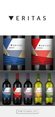 Veritas label on Behance by Željka Županić, Zagreb, Croatia curated by Packaging Diva. Badel is the largest and oldest wines beverages producer in Croatia. #taninotanino
