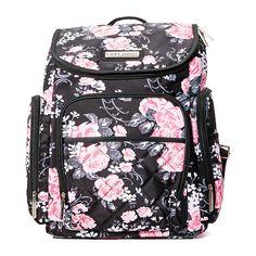 1ae1c7db05f135 Laura Ashley 4-in-1 Floral Zip Around Backpack Diaper Bag - Black - Laura  Ashley - Babies