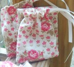 10 Fabric Bags Goodie Bags Party Favors Bags by CoutureWorks, $10.00