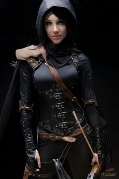 Gorgeous cosplay...makes me think of Marian's Night Watchman from BBC's Robin Hood