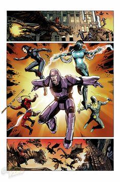 Avengers World #13 || Weather Witch, Devastator, Vector, Saber, Monkey King