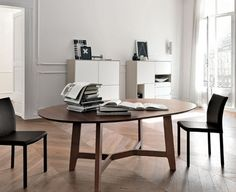 Mesa redonda moderna de madera - ICONA by Vittore Niolu - europeo