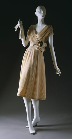 "Christian Dior: ""Partie Fine"" dress, Spring 1951. #Dior"
