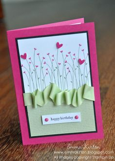 Creative Papercrafts - Pink and Green