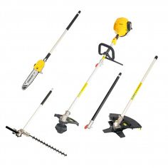 Stanley 2 Stroke 4 in 1 Line Trimmer Kit, 2 Year Warranty. The 2 Stroke 26cc 4-in-1 garden system has 4 interchangeable clip-in tool heads, making it simple to change from lawn trimmer, pole hedge trimmer, pole chainsaw and brush cutter. With innovative recoil-starter allowing for an easy start, ergonomic anti-vibration soft handle with cockpit operation allows for comfortable handling and an extension bar to reach those hard to reach areas. Chainsaw Sharpener, Easy Start, Hedges, Outdoor Power Equipment, Make It Simple, Lawn, Handle, Kit, Garden