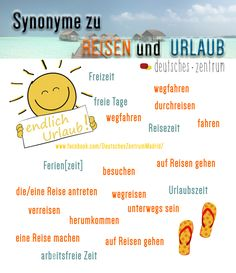 Urlaub Deutsch Wortschatz Grammatik German DAF Alemán Vocabulario