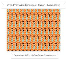 Free Landscape Pumpkin Orange Chevron Large Princess Jasmine Pattern Paper - Aladdin