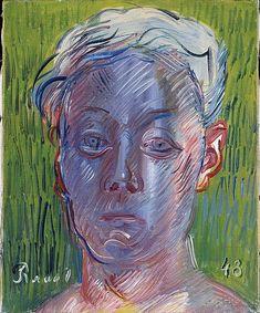 Raoul Dufy,  Autoportrait, 1948. Paris, Centre Pompidou