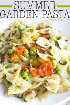 Summer Garden Pasta — The Local Vegan™   Official Website