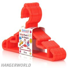 Children's Red Plastic Bar Hangers - 30cm