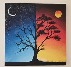 Small Canvas Paintings, Easy Canvas Art, Small Canvas Art, Cute Paintings, Mini Canvas Art, Simple Acrylic Paintings, Canvas Painting Sunset, Scenery Paintings, Acrylic Canvas
