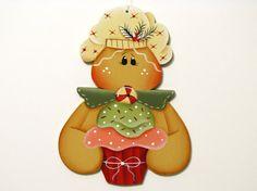 Pan de jengibre con Magdalena ornamento Navidad por ToleTreasures