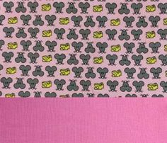Set Jersey Mäuse rosa +Bündchen