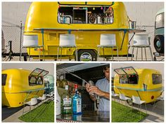 Vintage trailer bar we are using at Abbot Kinney Festival in Venice!