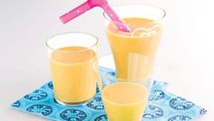 Glass Of Milk, Smoothies, Mango, Pudding, Drinks, Tableware, Desserts, Food, Smoothie