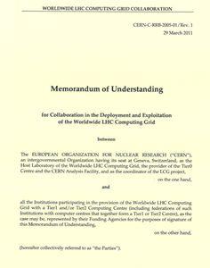 memorandum of understanding wlcg memorandum of understanding sample