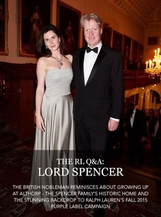The British nobleman reminisces about growing up at Althorp—the Spencer family's historic home, and the stunning backdrop to the Fall 2015 Ralph Lauren Purple Label campaign Lord Spencer, Karen Spencer, Spencer Family, Lady Diana Spencer, Princess Diana Grave, Princess Diana Family, Middleton Family, Charles And Diana, Classic Chic