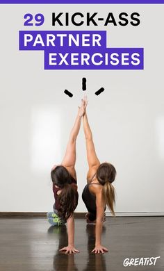 Studies show working out with a partner has more benefits than hitting the weight rack or treadmill solo #workouts #fitness http://greatist.com/fitness/35-kick-ass-partner-exercises