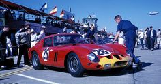 Carlo Mario Abate and Juan-Manuel Bordeu drove this Ferrari 250 GTO at Sebring in 1963.  They managed to finish in 5th position.  The winning car was a Ferrari 250 P driven by John Surtees and Ludovico Scarfiotti.  Photo by Tom Bigelow.