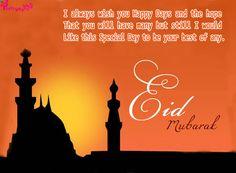 Eid Mubarak Wishes Quotes with Eid MUbarak Cards Images | Poetry
