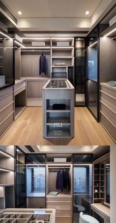Wardrobe Room, Wardrobe Design Bedroom, Master Bedroom Closet, Walk In Closet Design, Closet Designs, Dressing Room Design, Closet Layout, Luxury Closet, Luxurious Bedrooms