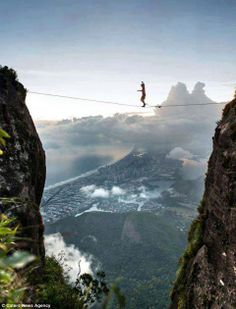 """""""Tightrope Samba"""" over Rio De Janeiro"""