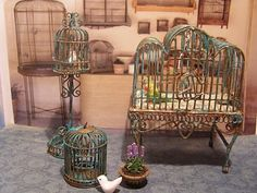 Miniature birdcages! Be still my <3!