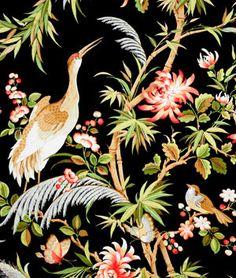 Richloom Egret Midnight Fabric