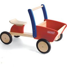 Pintoy Cargo Truck - Wooden Ride-On - Send A Toy