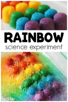 Im definitely going to make this scented rainbow science experiment with my preschoolers this month! Its perfect for St. Patricks Day or a preschool rainbow theme. Rainbow Activities, Early Learning Activities, Science Activities For Kids, Preschool Science, Weather Activities, Rainbow Crafts, Children Activities, Sensory Activities, Preschool Lesson Plans